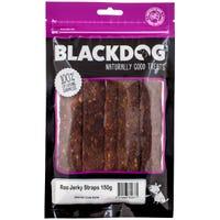 Blackdog Kangaroo Jerky Straps Dog Treats - 150g