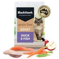 Black Hawk Feline Adult Grain Free Duck and Fish Dry Cat Food - 1.2kg