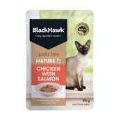 Black Hawk Feline Mature Chicken and Salmon in Jelly Wet Cat Food - 85g