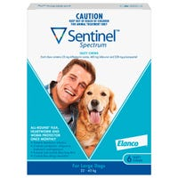Sentinel Flea And Worming Chews Large Dog 22kg+ - 6pk