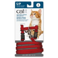 Catit Red Cat Harness and Lead  - Small