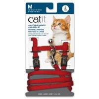 Catit Red Cat Harness and Lead  - Medium