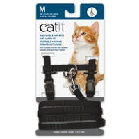 Catit Black Cat Harness and Lead - Medium