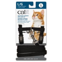 Catit Black Cat Harness and Lead  - Large