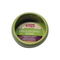 Living World Green Ceramic Ergonomic Pet Bowl - 420ml