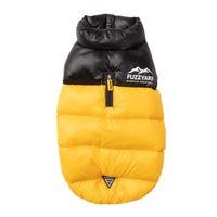 FuzzYard Harlem Puffer Jacket Yellow Dog Coat - Size 6