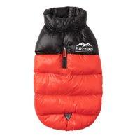 FuzzYard Harlem Puffer Jacket Red Dog Coat - Size 4