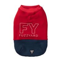 FuzzYard FY Track Sweater Red & Navy Dog Coat - Size 7