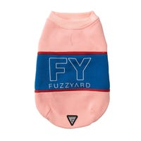 FuzzYard FY Track Sweater Pink & Blue Dog Coat - Size 7
