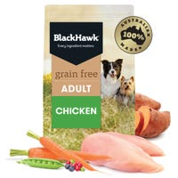 Black Hawk Adult Grain Free Chicken Dry Dog Food - 2.5kg