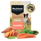 Black Hawk Adult Grain Free Salmon Dry Dog Food - 15kg