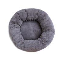 La Doggie Vita Luxe Plush Donut Charcoal Dog Bed - X Large