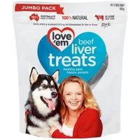 Love'Em Beef Liver Dog Treats - 500g