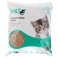 Kitter Wood Pellet Cat Litter - 5kg
