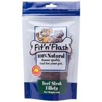 Fit'N'Flash Beef Steak Fillets Dog Treats - 60g
