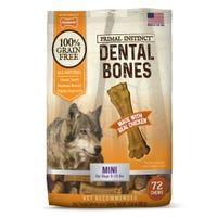 Nylabone Primal Instinct Chicken Mini Dental Dog Treats - 72pk