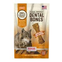 Nylabone Primal Instinct Chicken Regular Dental Dog Treats - 10pk