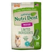 Nylabone Nutri Dent Fresh Breath Medium Dental Dog Treats - 20pk