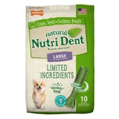 Nylabone Nutri Dent Fresh Breath Large Dental Dog Treats - 10pk