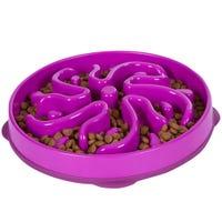 Outward Hound Fun Feeder Dog Bowl Purple - Small