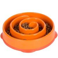 Outward Hound Fun Feeder Dog Bowl Orange - Large