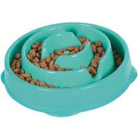 Outward Hound Fun Feeder Dog Bowl Teal - Small