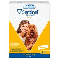 Sentinel Flea And Worming Chews Medium Dog 11-22kg - 6pk