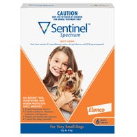 Sentinel Flea And Worming Chews Very Small Dog 0-4kg - 6pk