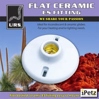 URS Flat Ceramic ES Fitting - Each