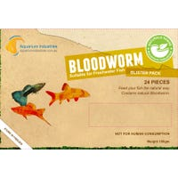 Aquarium Industries Frozen Bloodworms Fish Food - 100g