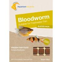 Aquarium Industries Frozen Bloodworms Fish Food - 100g