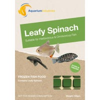 Aquarium Industries Frozen Leafy Spinach Fish Food - 100g