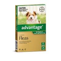 Advantage Flea Spot On Small Dog 0-4kg - 4pk