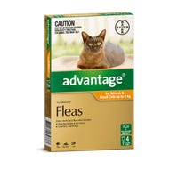Advantage Flea Spot On Small Cat 0-4kg - 4pk