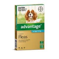 Advantage Flea Spot On Medium Dog 4-10kg - 4pk