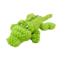 Yours Droolly Cuddlies Crocodile Green Dog Toy - Small