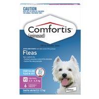 Comfortis Flea Chews Extra Small 2.3-4.5kg - 6pk