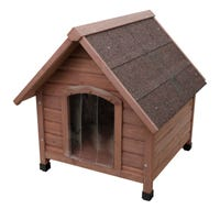 Yours Drooly Classic Wooden Dog Kennel - Medium