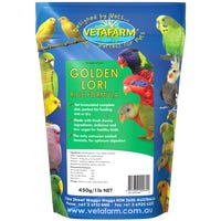 Vetafarm Golden Lori Rice Formula Bird Food - 450g