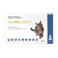 Revolution Cat Flea and Worming Spot On 2.6-7.5kg - 3pk