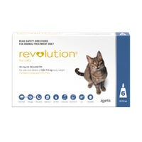 Revolution Cat Flea and Worming Spot On 2.6-7.5kg - 6pk
