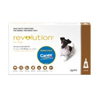 Revolution Spot On with Cannex Wormer Small Dog 5.1-10kg - 6pk