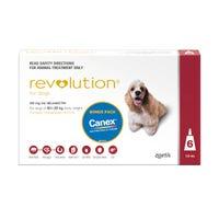 Revolution Spot On with Cannex Wormer Medium Dog 10.1-20kg - 6pk