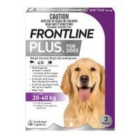Frontline Plus Flea Spot On Large Dog 20-40kg - 3pk