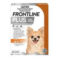 Frontline Plus Flea Spot On Small Dog 0-10kg - 3pk