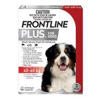 Frontline Plus Flea Spot On Extra Large Dog 40-60kg - 3pk