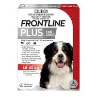 Frontline Plus Flea Spot On Extra Large Dog 40-60kg - 6pk