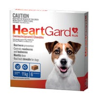 Heartgard Plus Wormer Chews Small Dog up to 11kg - 6pk