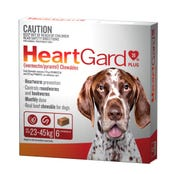 Heartgard Plus Wormer Chews Large Dog 23-45kg - 6pk