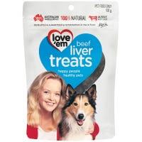 Love Em Beef Liver Dog Treats - 100g